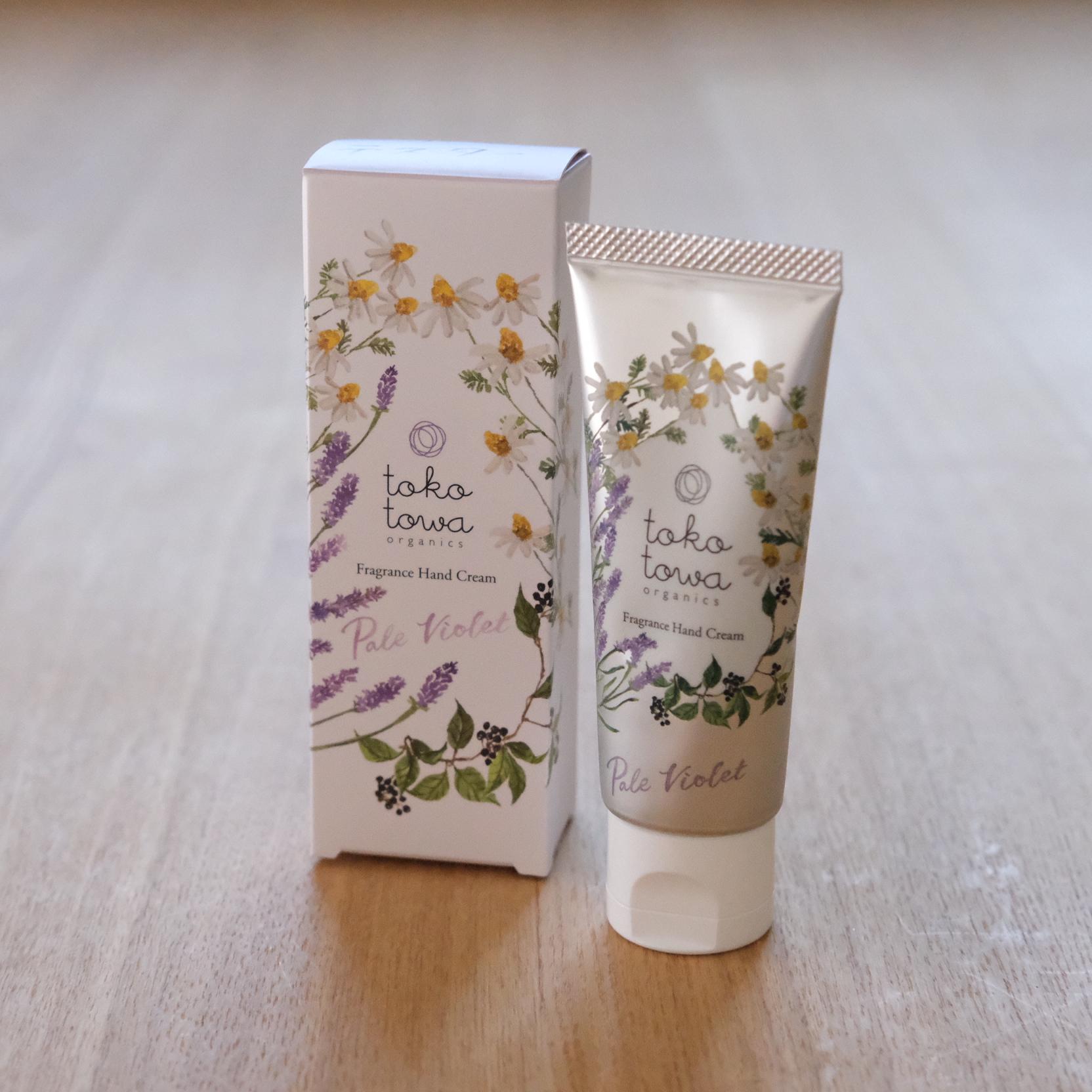 tokotowa organics フレグランスハンドクリーム ペールバイオレット ~ラベンダーとカモミールの香り~